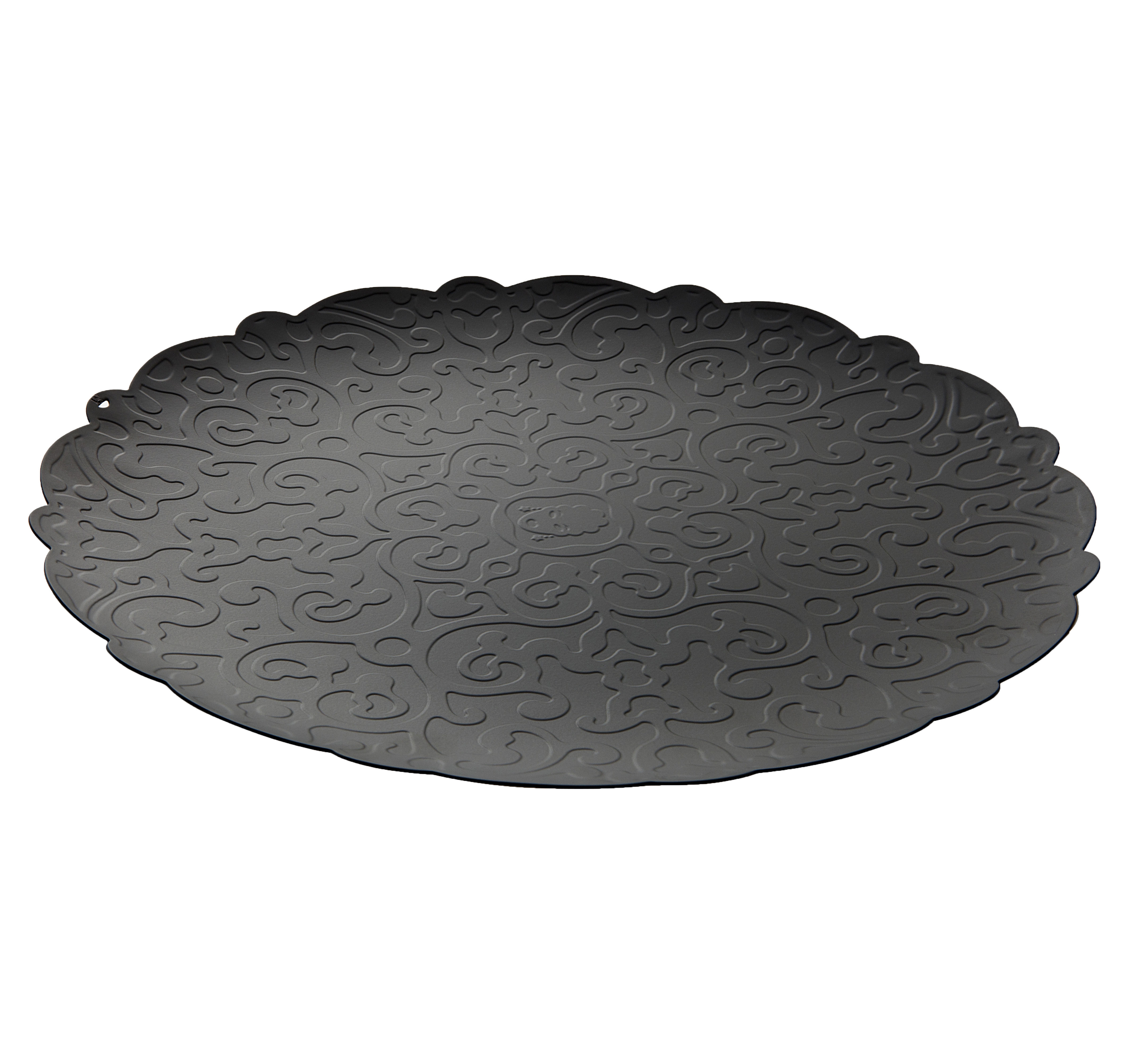 Tableware - Trays - Dressed Tray - Round Ø 35 cm by Alessi - Black - Stainless steel epoxy coloration resin