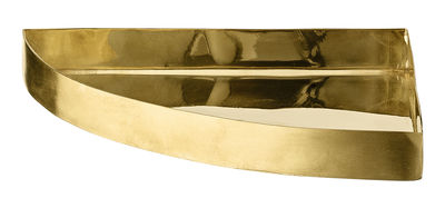 Tableware - Trays - Unity Tray - Quarter circle / L 16,5 cm by AYTM - Brass - Brass plated iron
