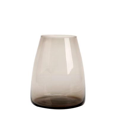 Vase Dim / Vase - Ø 18 x H 22 cm - XL Boom gris fumé en verre