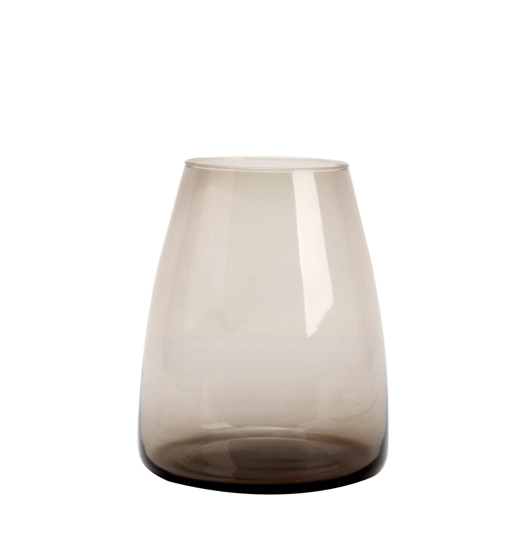 Déco - Vases - Vase Dim / Vase - Ø 18 x H 22 cm - XL Boom - Medium / Transparent - Verre soufflé bouche
