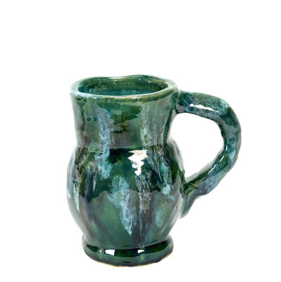 Decoration - Vases - Water Vase - / H 19 cm by Serax - Green - Enamled terracotta