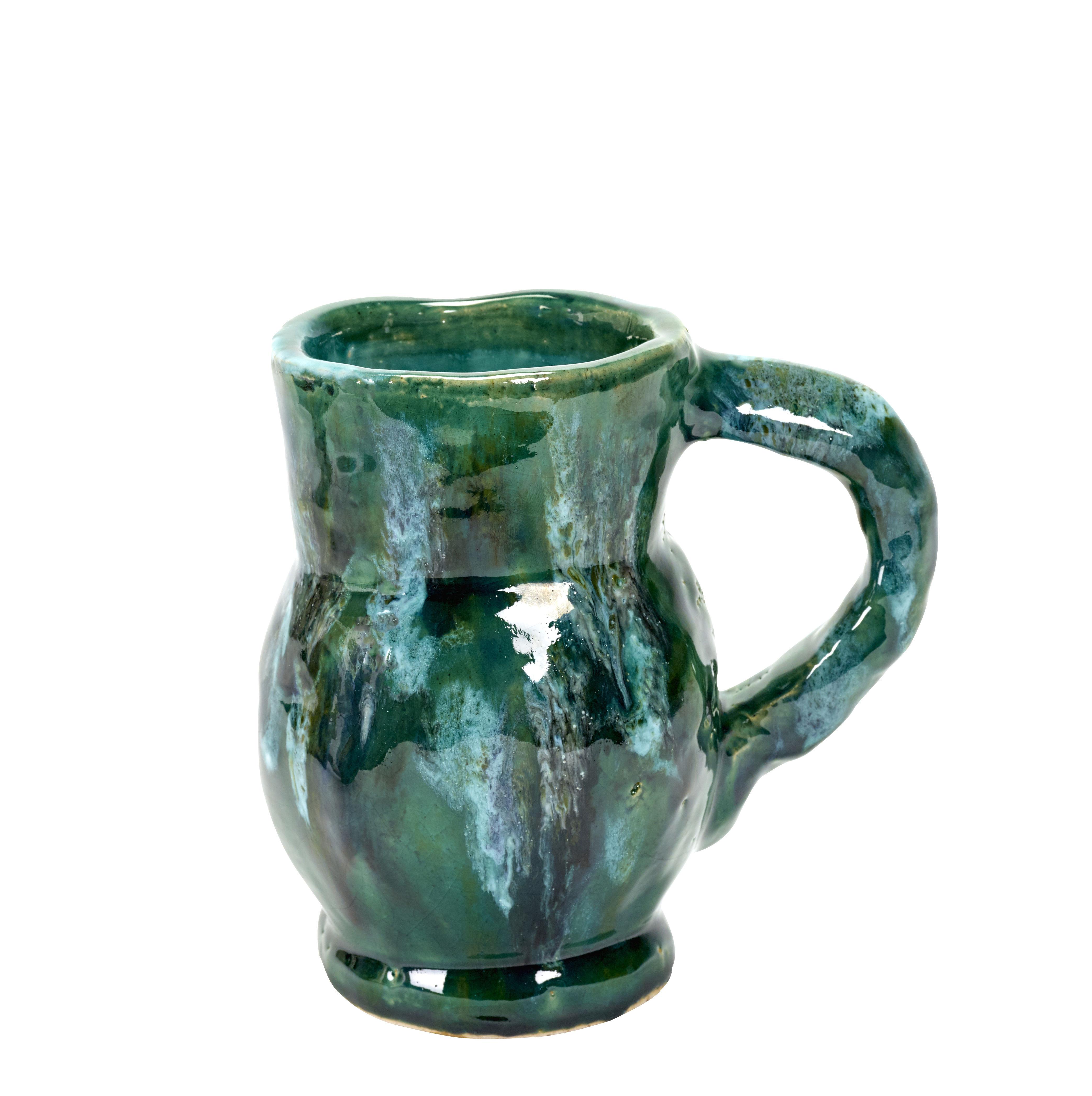 Déco - Vases - Vase Water / H 19 cm - Serax - Vert - Terre cuite émaillée