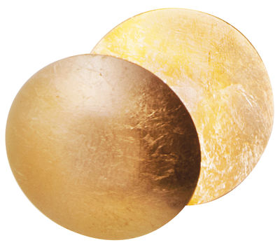Lighting - Wall Lights - Lederam W Wall light  - LED / Ø 17 cm by Catellani & Smith - Gold - Aluminium, Gold leaf, Painted metal