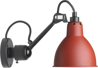 Lighting - Wall Lights - N°304 SW Wall light by DCW éditions - Red satin / Black - Steel