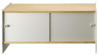 Möbel - Aufbewahrungsmöbel - Theca Ablage / niedrig - L 93 x H 55 cm - Magis - Kirschbaum natur / eloxiertes Aluminium - eloxiertes Aluminium, MDF plaqué cerisier