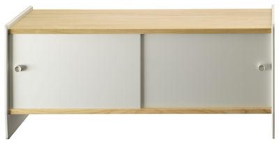 Theca Anrichte / niedrig - L 123 x H 55 cm - Magis - Aluminium eloxiert,Kirschholz