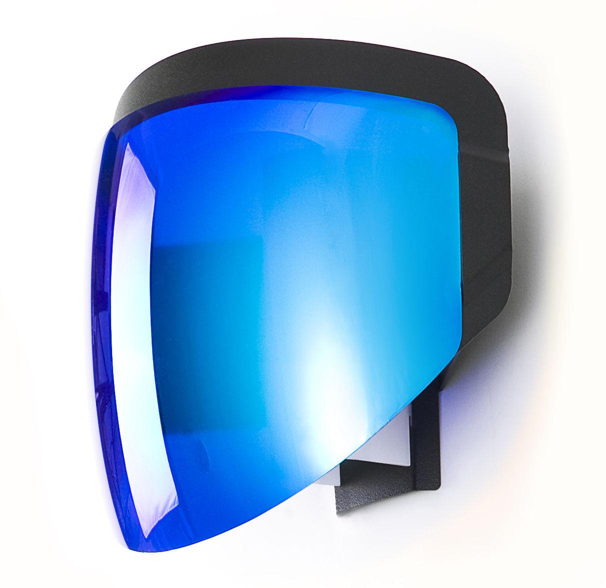 Luminaire - Appliques - Applique avec prise Moto - Moustache - Bleu - Métal, PMMA