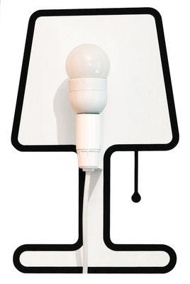 Interni - Insoliti e divertenti - Applique con presa Tiny Lampe - / Set sticker + kit elettrico di Pa Design - Nero - Kit lampada + Sticker - Plastica, Vinile