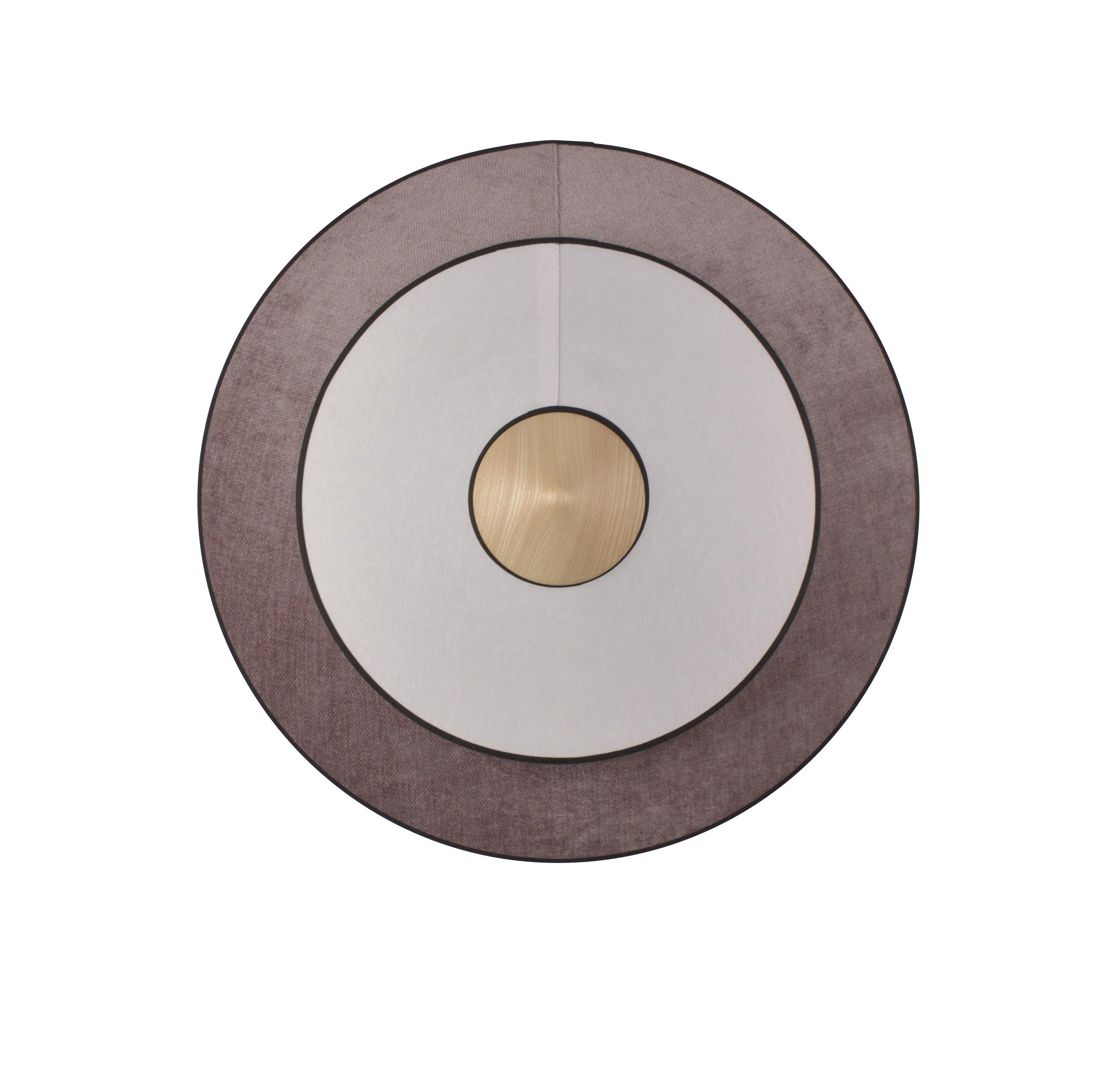 Illuminazione - Lampade da parete - Applique Cymbal LED - / Medium - Ø 50 cm - Tessuto di Forestier - Rosa polvere - Cotone intrecciato, Rovere, Velluto