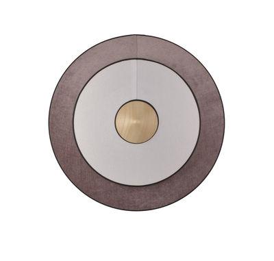 Luminaire - Appliques - Applique Cymbal LED / Medium - Ø 50 cm - Tissu - Forestier - Rose poudré - Chêne, Coton tissé, Velours