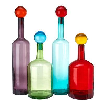 Déco - Vases - Carafe Bubbles & Bottles XXL / Verre - Set de 4 / H 87 cm - Pols Potten - Multicolore - Verre