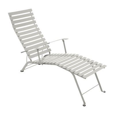 Chaise longue Bistro - Fermob gris argile en métal