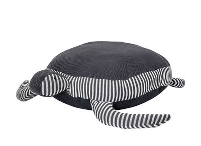 Furniture - Kids Furniture - Tortue Children pouf - / 80 x 100 cm by Bloomingville - Grey turtle - Cotton, Polyester
