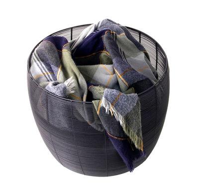 Corbeille Dora Large / Ø 43.5 x H 37 cm - XL Boom noir en métal