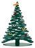 Décoration Bark Tree / Sapin H 45 cm + 6 aimants colorés - Alessi