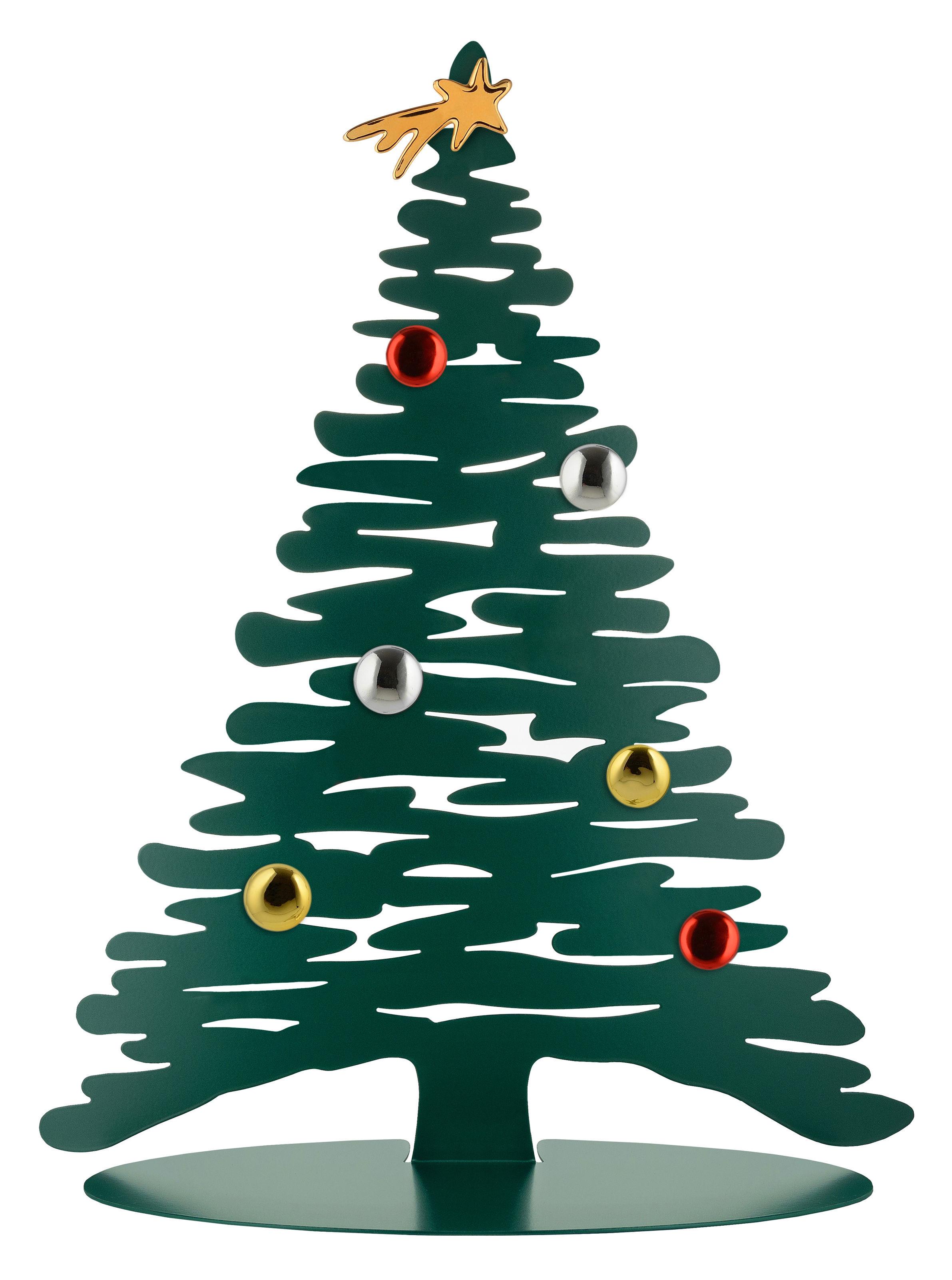 Déco - Objets déco et cadres-photos - Décoration Bark Tree / Sapin H 45 cm + 6 aimants colorés - Alessi - Vert - Acier époxy