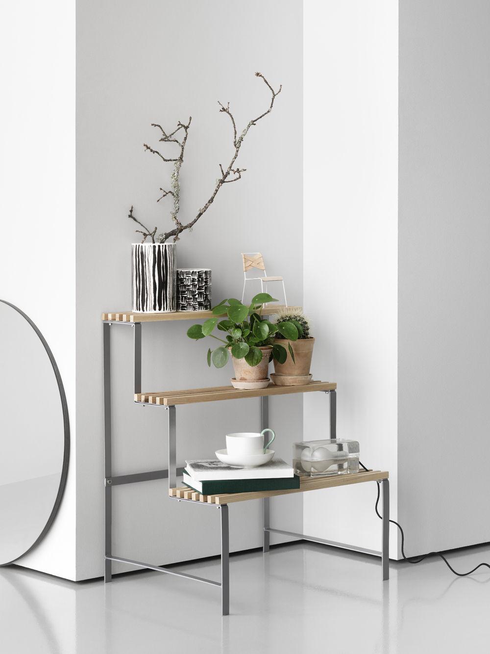 Stand Design Etagère Naturel Pot L Stockholm Frêne House Flower hQCosrBdtx