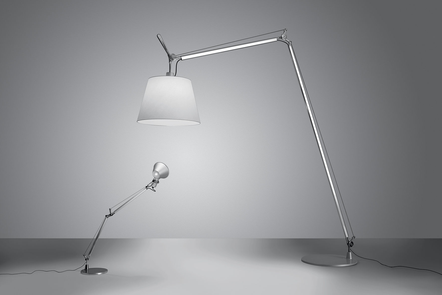 Tolomeo maxi lampada a stelo Ø cm h a cm bianco