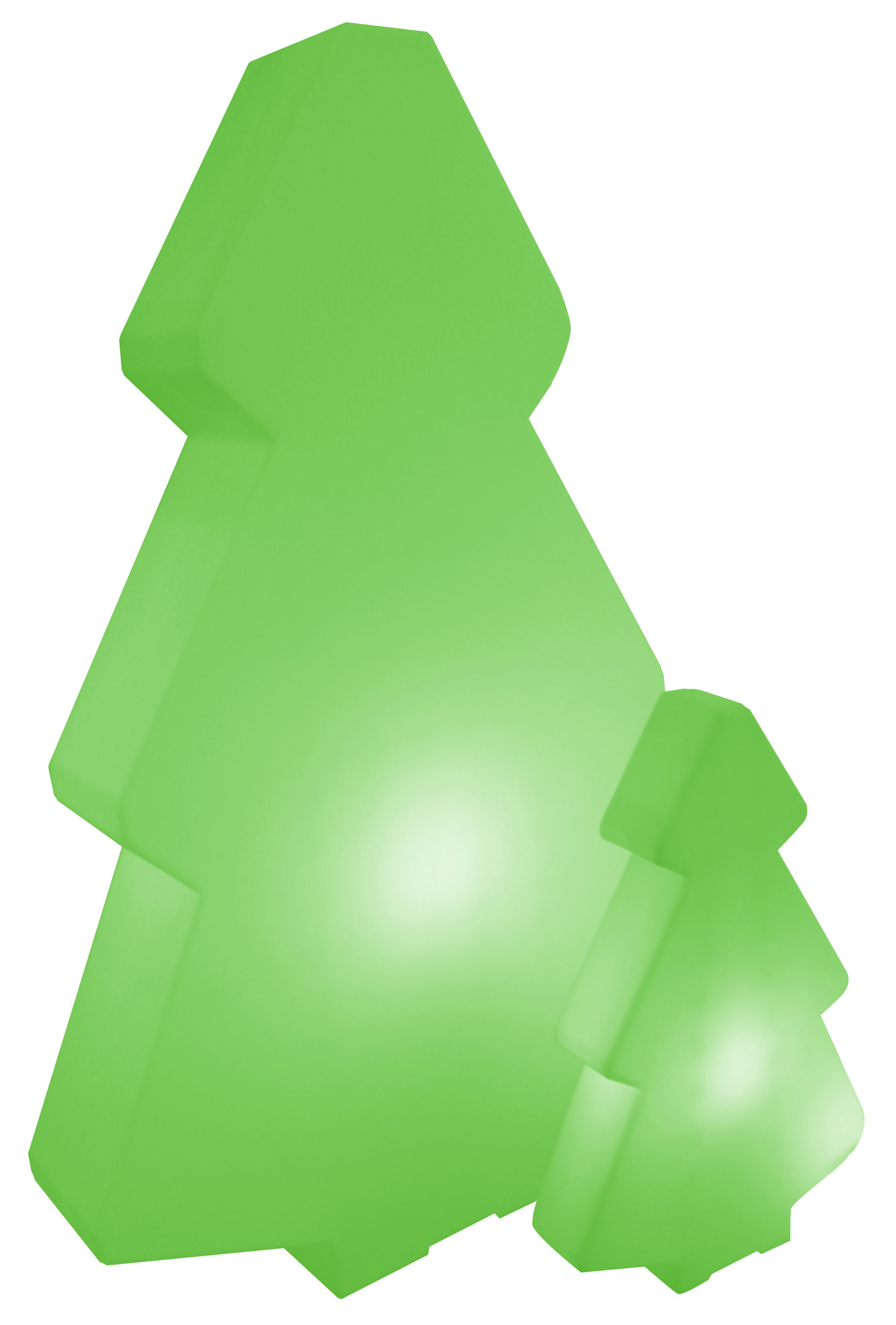 Mobilier - Mobilier lumineux - Lampadaire Lightree Outdoor / H 100 cm - Pour l'extérieur - Slide - Vert - polyéthène recyclable