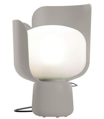 Luminaire - Lampes de table - Lampe de table Blom / H 24 cm - Fontana Arte - Gris - Aluminium, Polycarbonate, Polyéthylène
