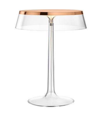 Lampe de table Bon Jour / LED - H 41 cm - Flos cuivre,transparent en matière plastique