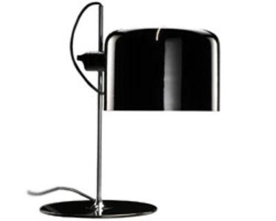 Lampe de table Coupé - O luce noir en métal