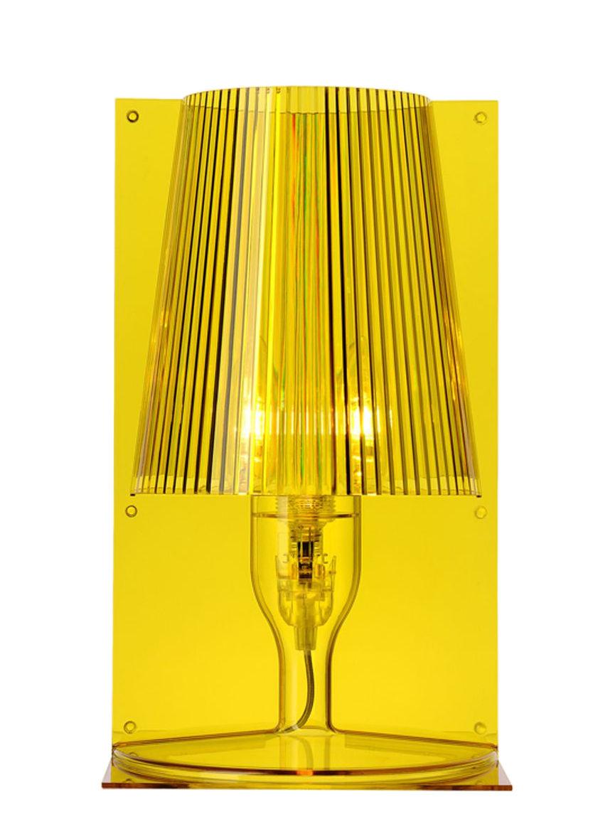 Luminaire - Lampes de table - Lampe de table Take - Kartell - Jaune - Polycarbonate