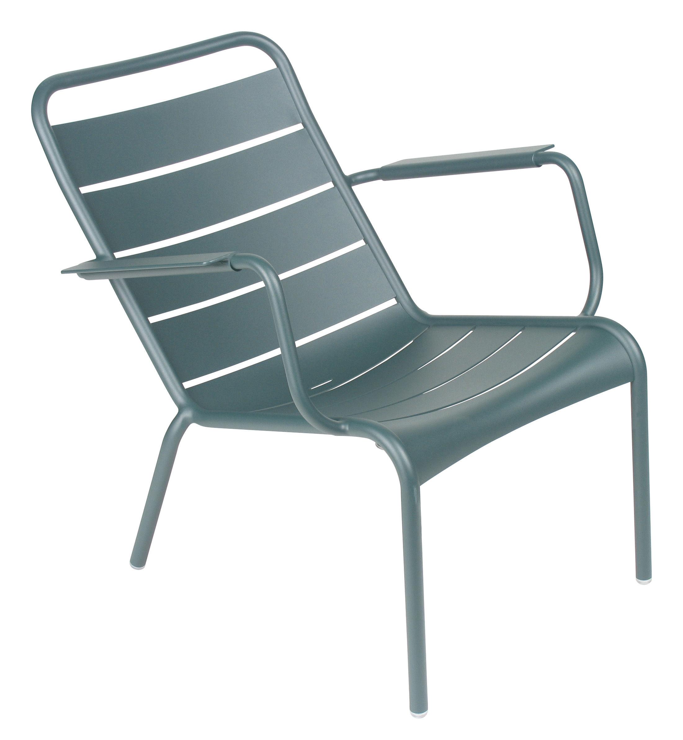 Life Style - Luxembourg Lounge Sessel - Fermob - Zedernholz - lackiertes Aluminium