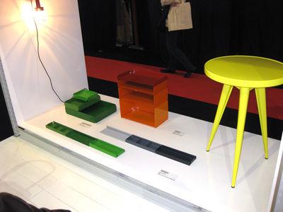 Organiseur de bureau v set de 3 plumiers noir tolix made in design