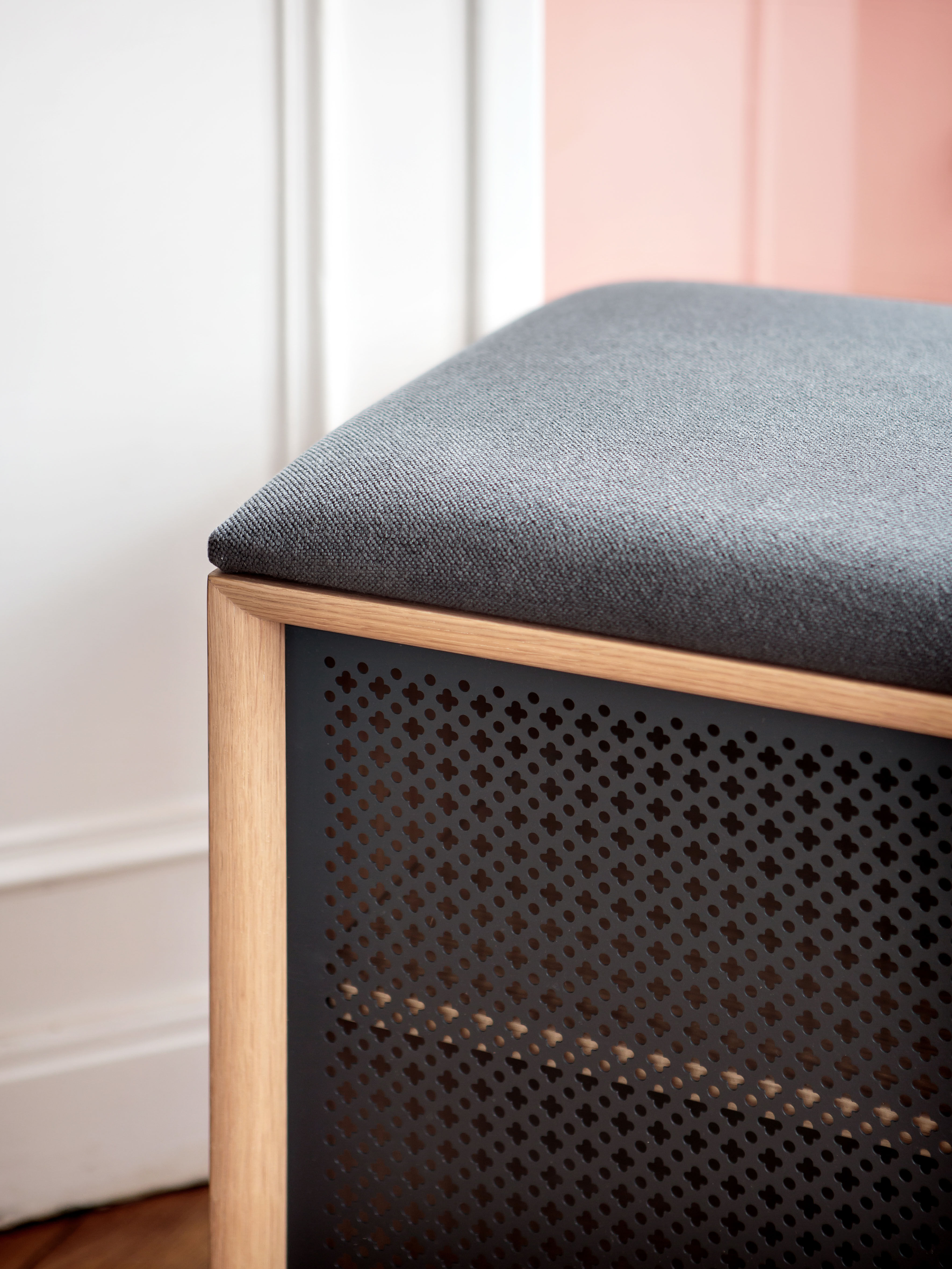 Panchina gabin di hart grigio made in design for Arredamento made in china