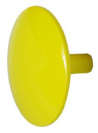 Mobilier - Portemanteaux, patères & portants - Patère Manto Fluo Pastel Ø 10 cm - Sentou Edition - Jaune clair - Ø 10 cm - Fonte d'aluminium vernie