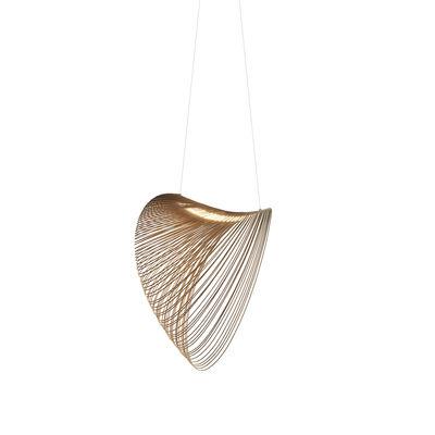 Lighting - Pendant Lighting - Illan LED Pendant - / Ø 80 cm - Wood by Luceplan - Ø 80 cm / Birch - Birch plywood