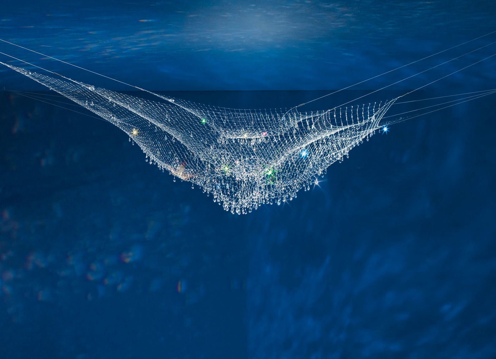 Leuchten - Pendelleuchten - Lacrime del Pescatore Pendelleuchte - Ingo Maurer - Mehrfarbig - Kristall, Nylon