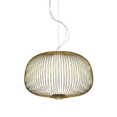 Leuchten - Pendelleuchten - Spokes 3 My Light Pendelleuchte / LED - Bluetooth / Ø 61 x H 42 cm - Foscarini - Goldgelb - gefirnister Stahl, klarlackbeschichtetes Aluminium
