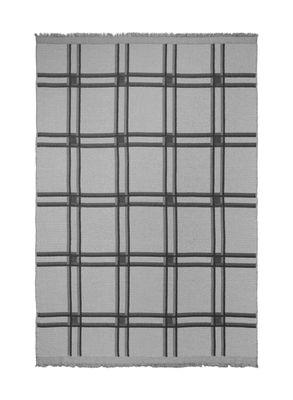 Interni - Tessili - Plaid Checked Wool - / A quadri - Grigio di Ferm Living - Grigio - Cotone - Lana
