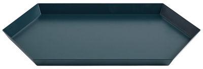 Arts de la table - Plateaux - Plateau Kaleido Medium / 33,5 x 19,5 cm - Hay - Vert foncé - Acier peint