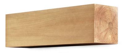 Arredamento - Scaffali e librerie - Portaoggetti da parete Corteccia - / L 90 x H 36 cm di Mogg - Legno - Multistrato impiallacciato larice
