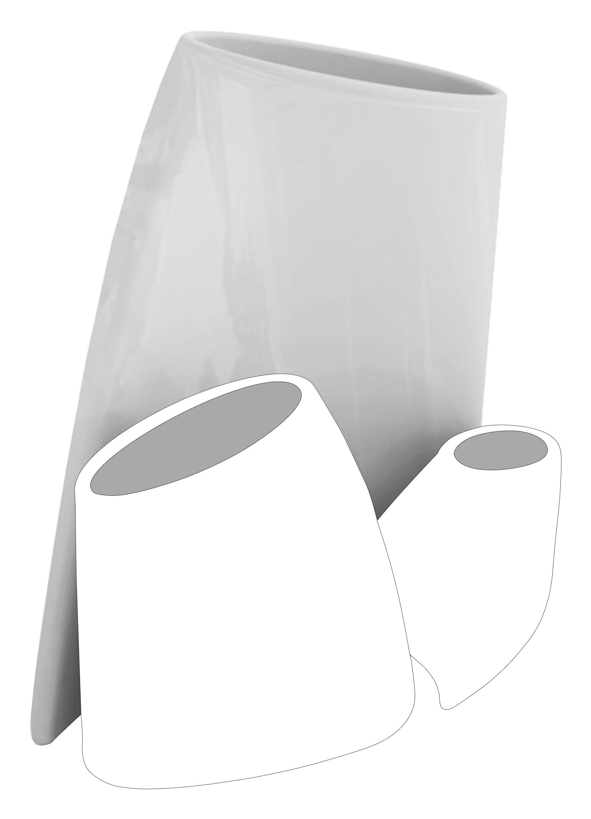 Outdoor - Pots et plantes - Pot de fleurs Tao L H 90 cm - Version laquée - MyYour - Gris clair laqué - Polyéthylène rotomoulé laqué