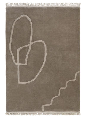Decoration - Rugs - Désert Rug - / 200 x 300 cm - Hand woven by Ferm Living - Sand - Wool