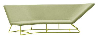 Möbel - Sofas - Ultrasofa Sofa / outdoorgeeignet - 3-Sitzer, L 300 cm - Fermob - Mandelgrün / Gestell Eisenkraut - Polyacryl-Gewebe, Schaumstoff, Stahl