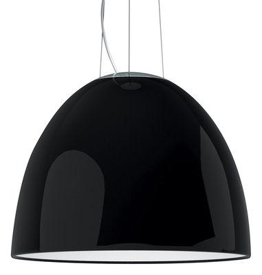 Illuminazione - Lampadari - Sospensione Nur Gloss - Ø 55 cm - versione laccata di Artemide - Nero lucido - alogena - alluminio verniciato