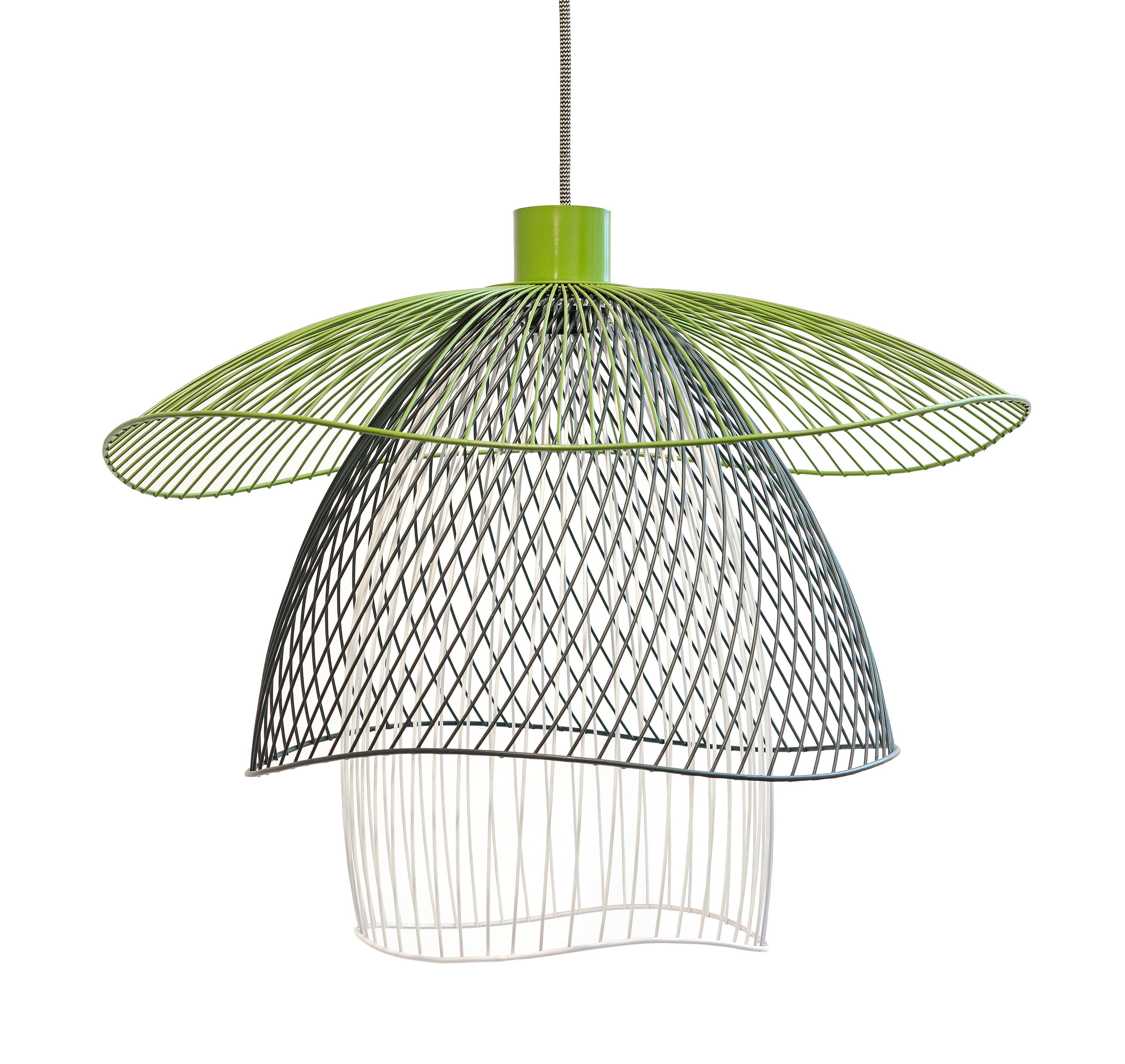 Illuminazione - Lampadari - Sospensione Papillon Small - / Ø 56 cm di Forestier - Verde / Blu / Bianco - Acciaio termolaccato