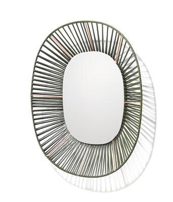 Image of Specchio Cesta - Ovale / 47 x 54 cm di ames - Verde - Materiale plastico