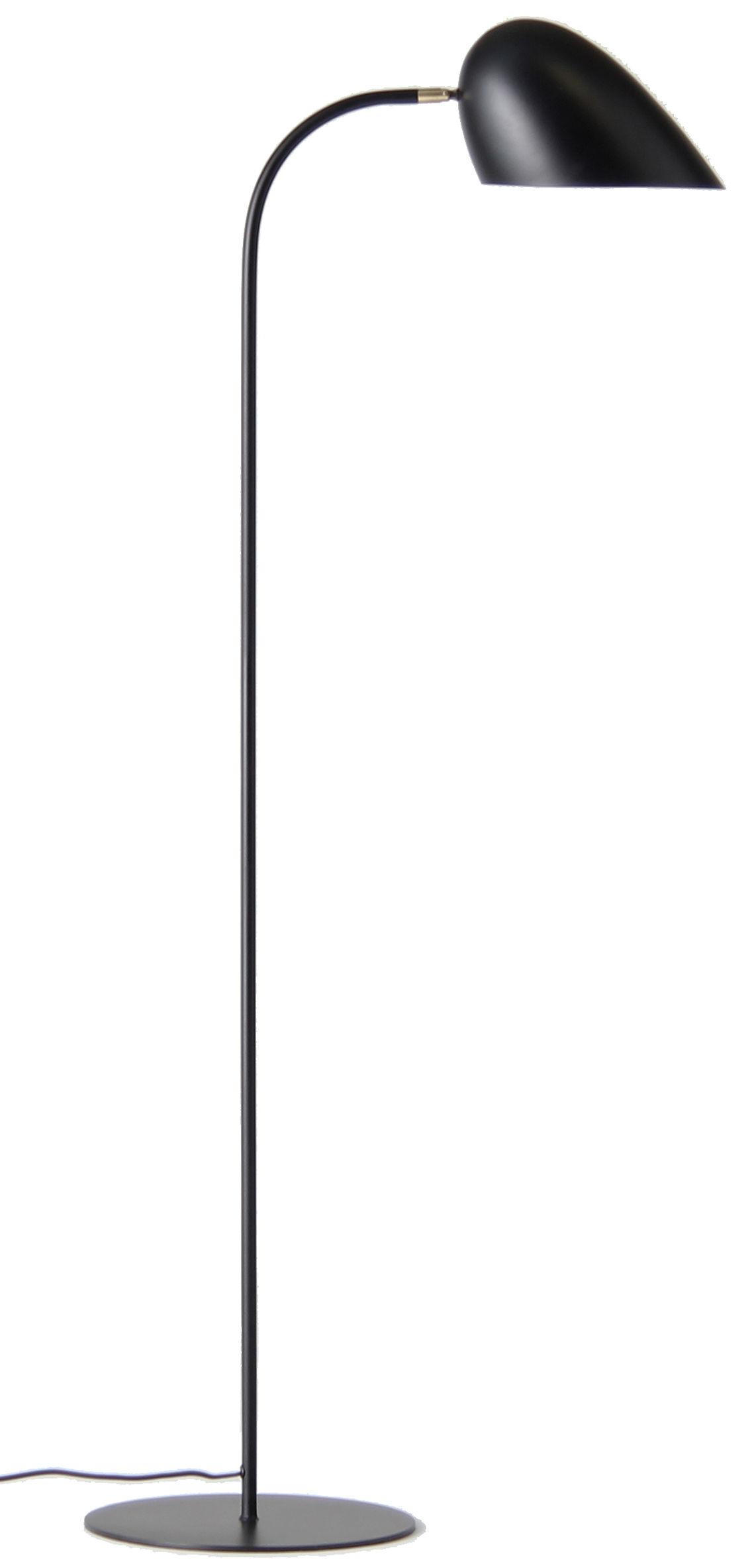 Leuchten - Stehleuchten - Hitchcock Stehleuchte / H 150 cm - Frandsen - Schwarz - bemaltes Metall, Messing