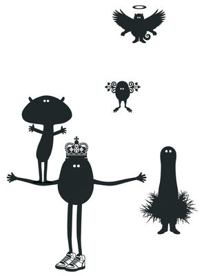Decoration - Wallpaper & Wall Stickers - Potato Queen 1 Sticker by Domestic - Black - Vinal