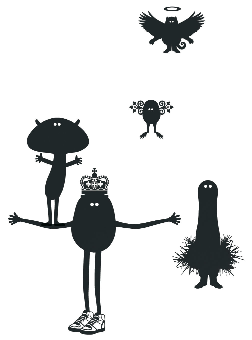 Déco - Stickers, papiers peints & posters - Sticker Potato Queen 1 - Domestic - Noir - Vinyle