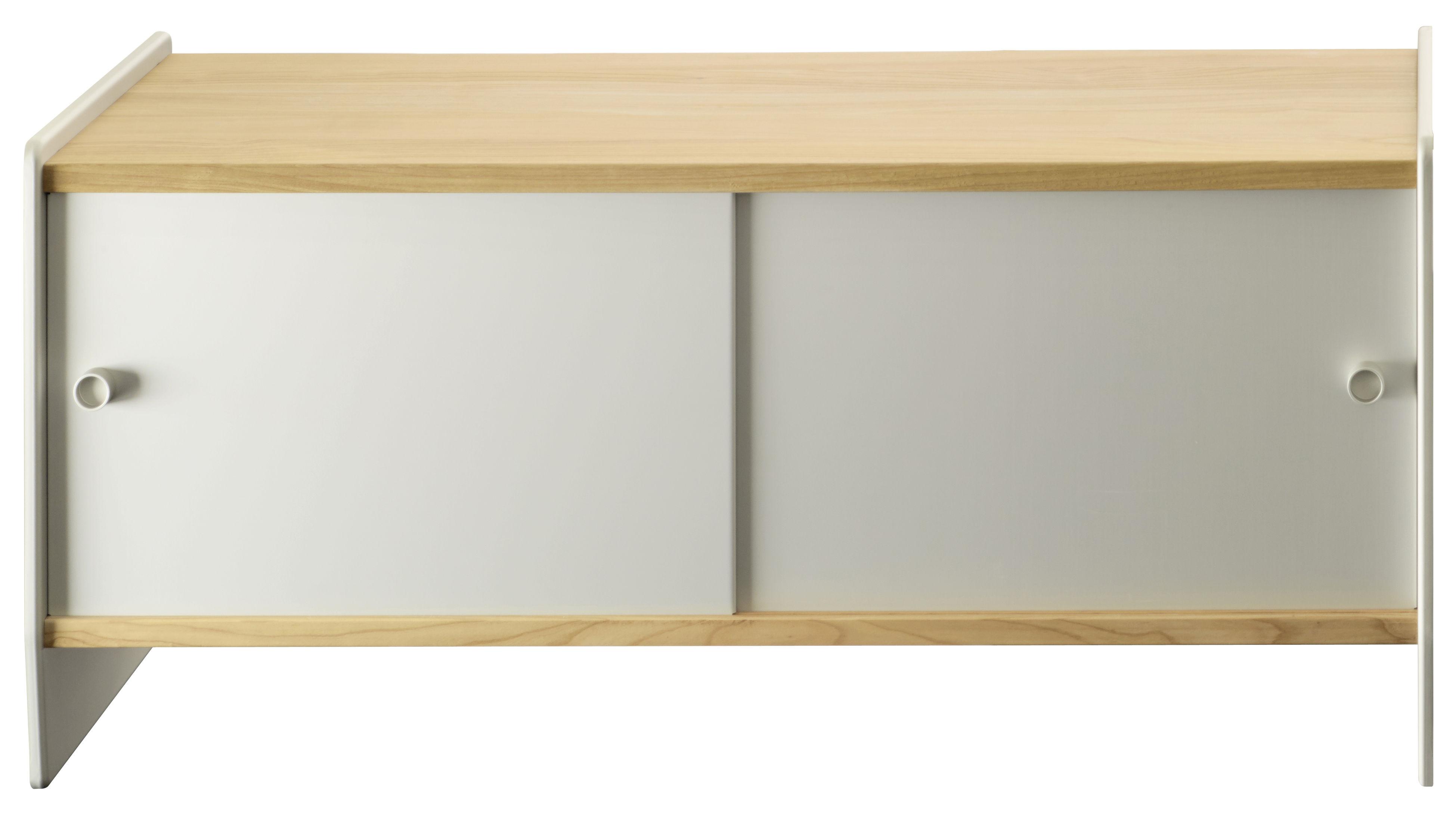 Furniture - Shelves & Storage Furniture - Theca Storage by Magis - Natural cherry wood / Anodized aluminum - Anodized aluminium, MDF plaqué cerisier