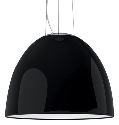 Luminaire - Suspensions - Suspension Nur Gloss Ø 55 cm - Version laquée - Artemide - Noir brillant - Halogène - Aluminium verni