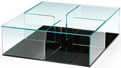 Table basse Quadra / 90 x 90 cm - FIAM noir,transparent en verre