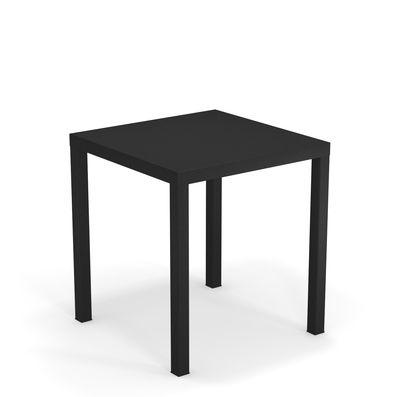 Table Nova Métal 70 x 70 cm Emu noir en métal